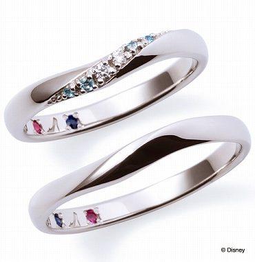 ディズニープリンセスの結婚指輪