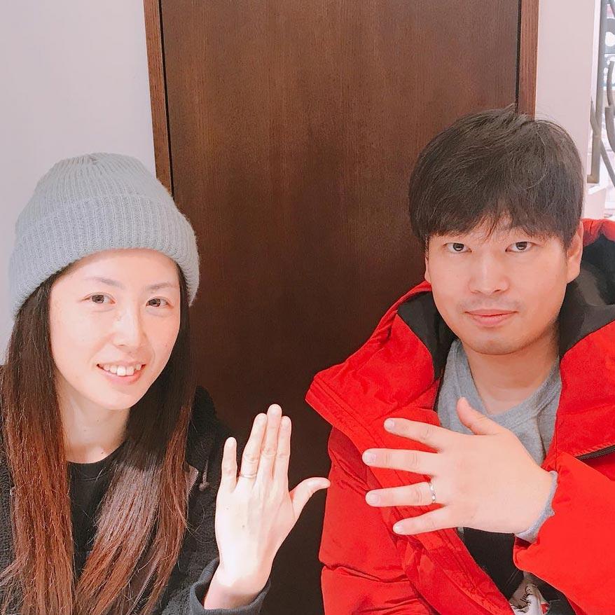 結婚指輪ご成約のお客様 おかか様ご夫妻 静岡県焼津市