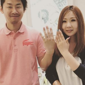 結婚指輪ご成約のお客様 富士市のさと吉様