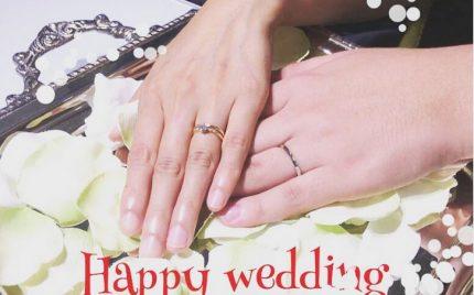 結婚指輪ご成約のお客様 富士宮市のY&K様ご夫妻
