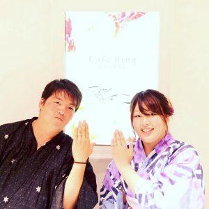 結婚指輪ご成約のお客様 静岡市駿河区のタロちゃん様ご夫妻