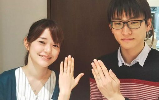 婚約指輪と結婚指輪ご成約のお客様 静岡県の幹人様&彩様ご夫妻