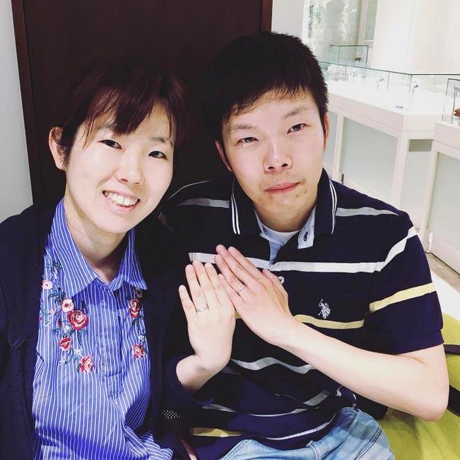 結婚指輪ご成約のお客様 T&A様ご夫妻 静岡県