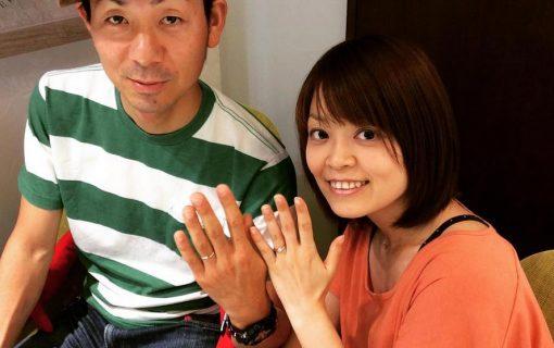 結婚指輪ご成約のお客様 H&M様ご夫妻 静岡県