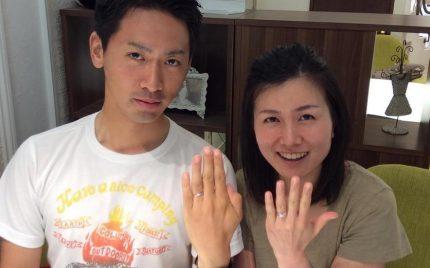結婚指輪ご成約のお客様 あやたか様ご夫妻 静岡県