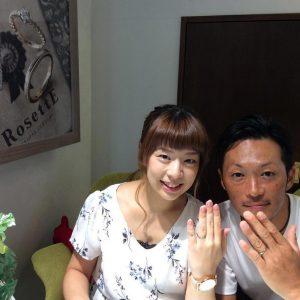 結婚指輪ご成約のお客様 ユウスケ&ナオミ様ご夫妻 静岡県