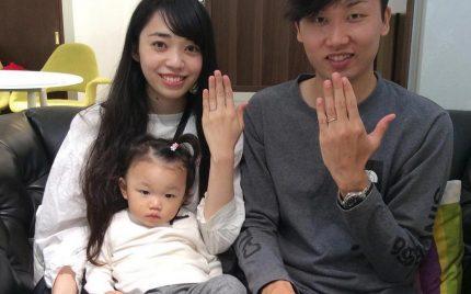 結婚指輪ご成約のお客様 SHIMURA様ご夫妻 静岡県