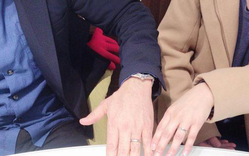 結婚指輪ご成約のお客様 マサ様ご夫妻 静岡県焼津市