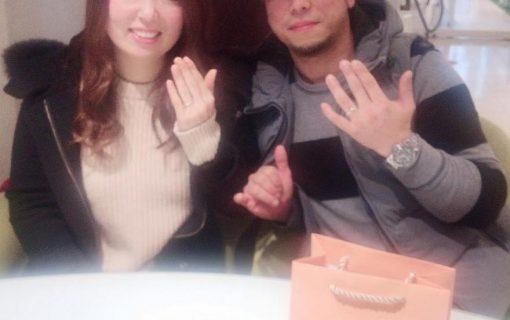 結婚指輪ご成約のお客様 湊一雅&恵様ご夫妻 静岡県焼津市