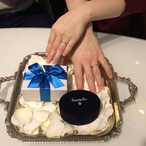 結婚指輪ご成約のお客様 かずき&ともな様ご夫妻 静岡県