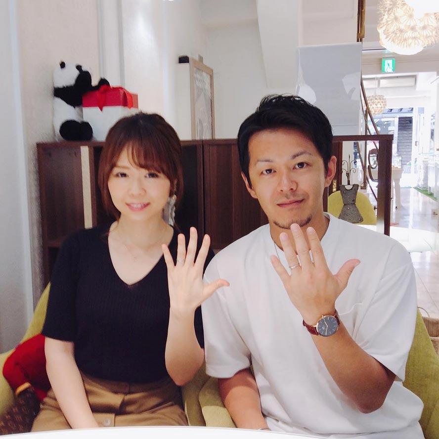 結婚指輪ご成約のお客様 としき&あやの様ご夫妻 静岡県藤枝市